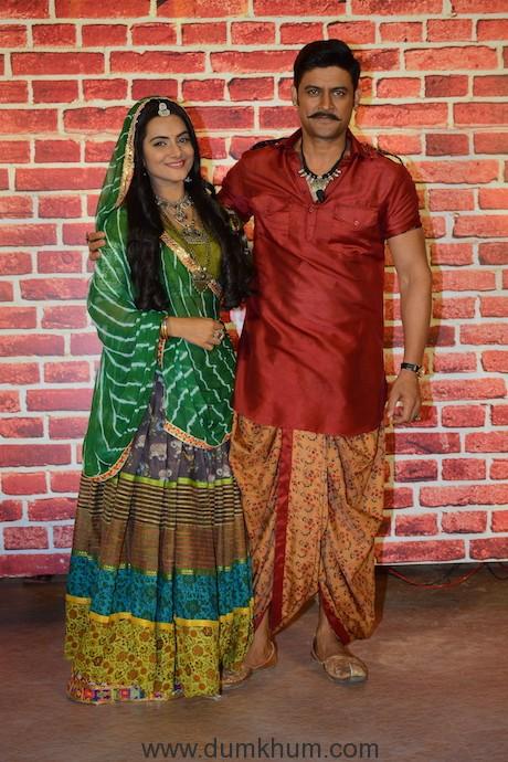 Manav Gohil and Aastha Chaudhary at COLORS' Kesari Nandan launch