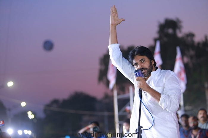 South superstar and Actor- Politican Pawan Kalyan leads a mammoth protest March- Lakhs come out in support