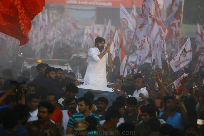 South superstar and  Actor- Politician  Pawan Kalyan leads a mammoth protest March- Lakhs come out in support