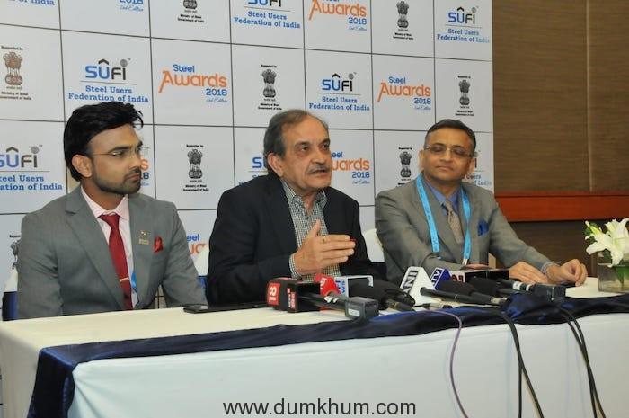 The Union Steel Minister Shri Chaudhary Birender Singh gave away Steel Awards 2018-