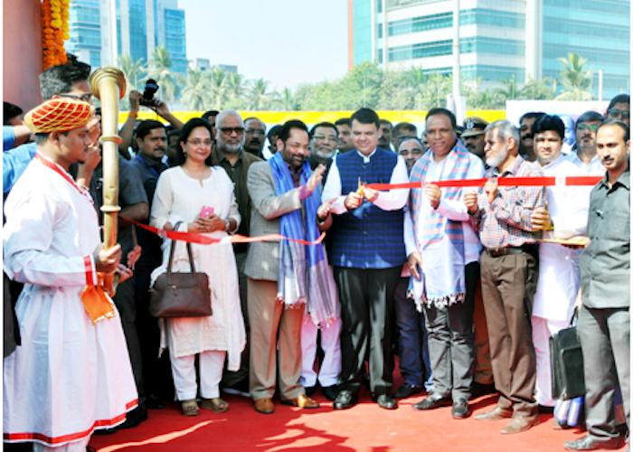 "Chief Minister Shri Devendra Fadnavi inaugurated ""Hunar Haat, organized by Ministry of Minority Affairs today in Mumbai"