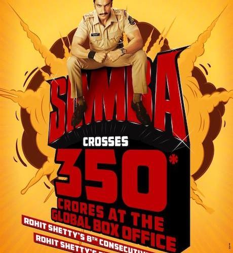 SIMMBA BECOMES BIGGEST BOLLYWOOD BOX OFFICE BLOCKBUSTER !