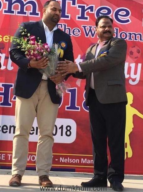 chairman welcoming indrajeet singh