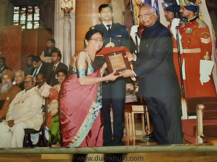Dr. Shobha Koser conferred prestigious Sangeet Natak Akademi Award Award by Hon'ble President