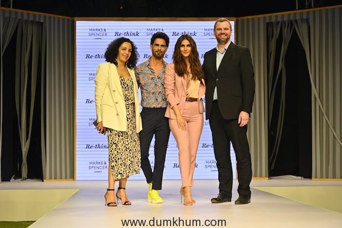 Francesca Zedda, Shahid Kapoor, Vaani Kapoor, James Munson (MD, Marks & Spencer)