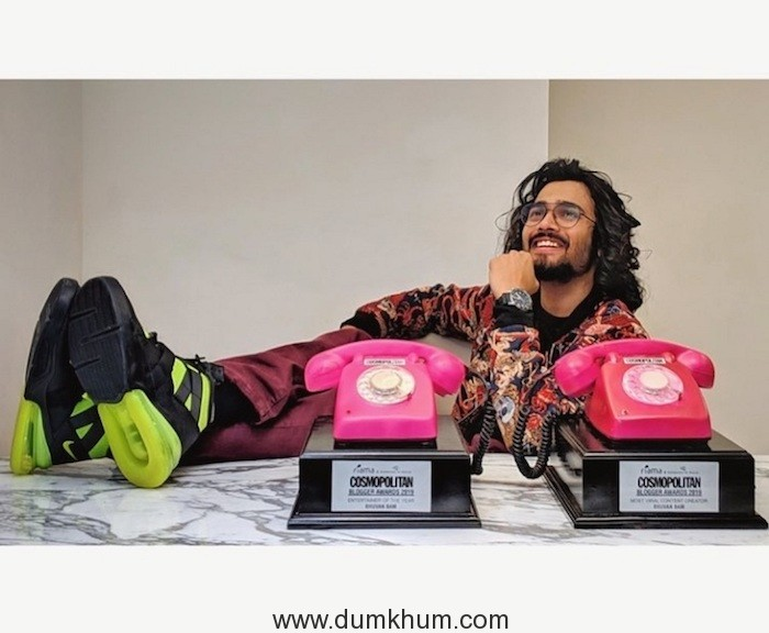 Bhuavn with his cosmopolitan awards -