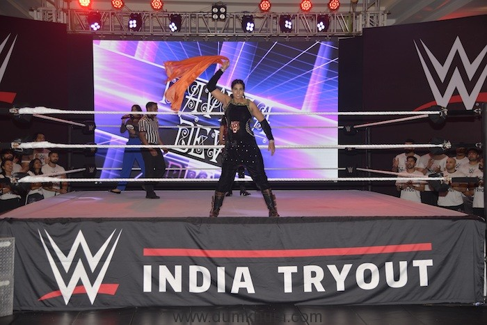 Kavita Devi set to go for the Live Show Match against Jinny Sandhu at India's First ever WWE Tryouts in Mumbai