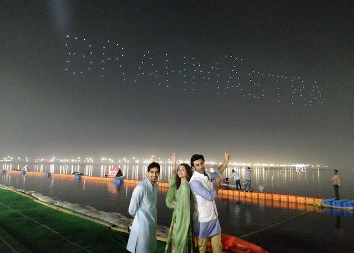 The Brahmāstra journey begins on Maha Shivratri, at the Kumbh Mela, through a never seen before spectacle in the sky.