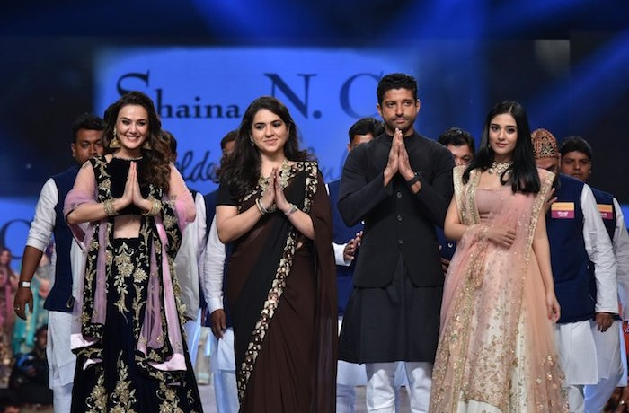 Bollywood biggies walk the ramp for Abu Jani&Sandeep Khosla and Shaina NC at 14th edition of Fevicol 'Caring with style' fashion show