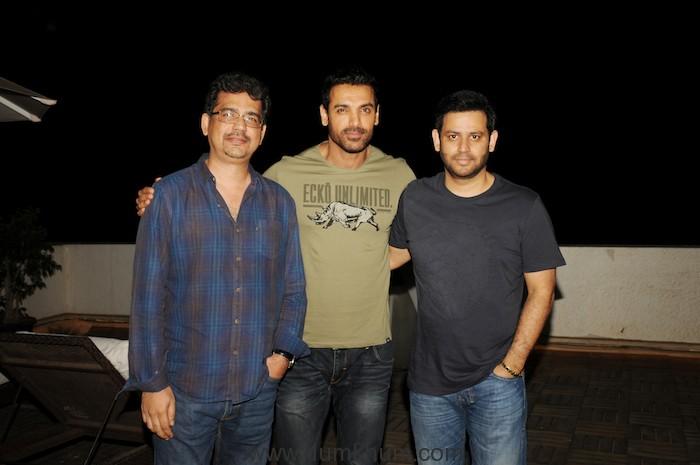 Rensil D'Silva, John Abraham and Ajay Kapoor
