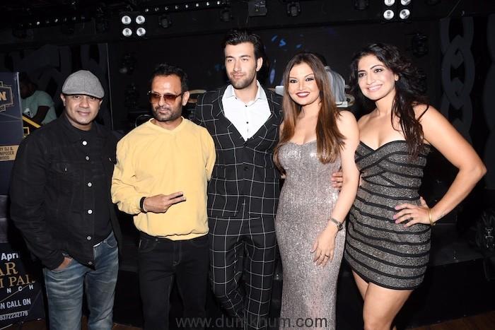 5. Rohan Saxena, Rohed Khan, Deepshikha Nagpal and DJ Sheizwood, Aacruti Nagpal during the song launch KABHI AAR KABHI PAR DSC_8259 (1)