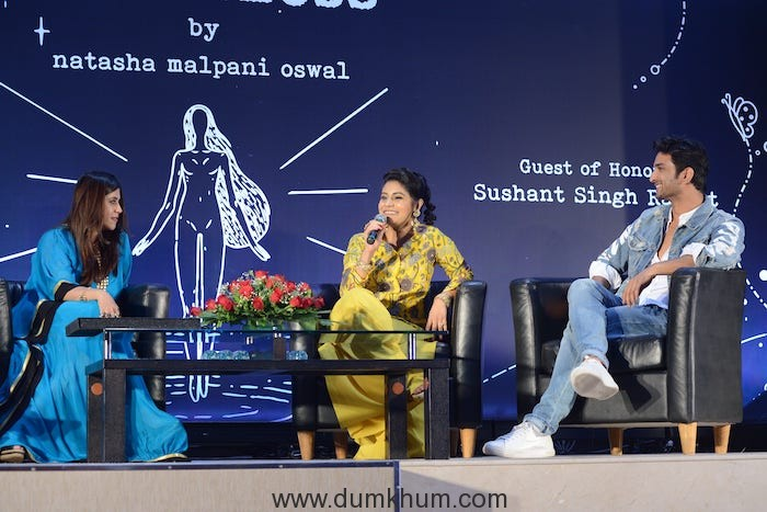 Ekta Kapoor, Natasha Malpani Oswal and Sushant Singh rajput at the launch of Boundless by natasha Malpani Oswal (1)