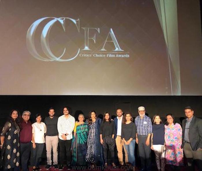 Film Critics Guild Members With Vidya Balan and Zoya Akhtar