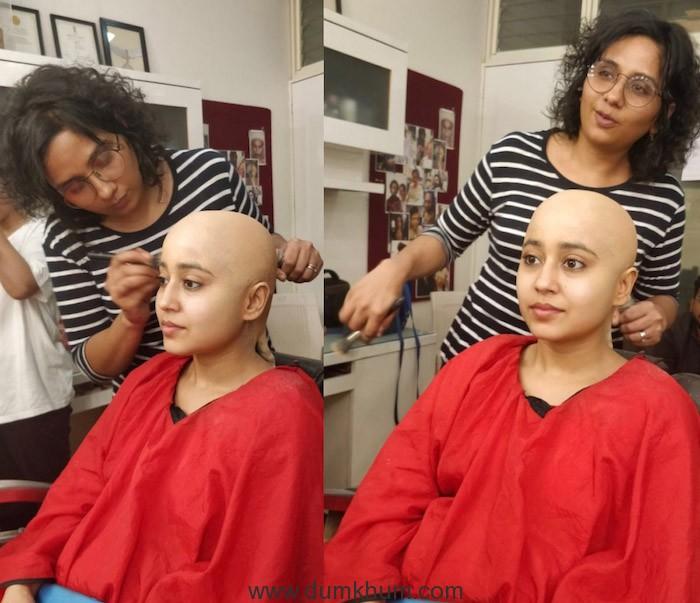 Preetisheel Singh working on the looks of Shweta Tripathi for Gone Kesh.