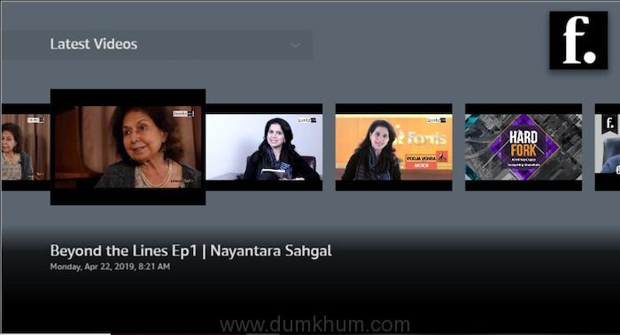 founderINDIA on Amazon fireTV