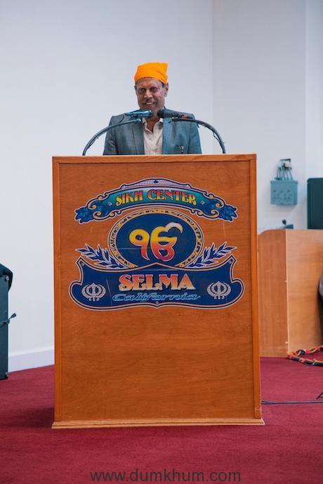 Cricketing legend Kapil Dev visits the Gurudwaras in the US - Selma Gurudwara, Fresno, California (2)