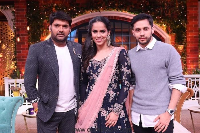 Saina Nehwal and Parupalli Kashyap, the celebrated badminton couple on Kapil Sharma Show