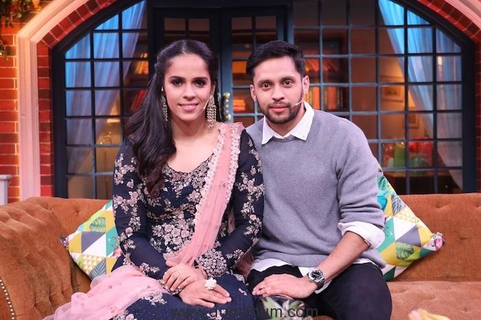 Saina Nehwal and Parupalli Kashyap, the celebrated badminton couple on Kapil Sharma Show !