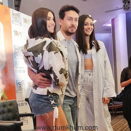 Tiger Shroff, Ananya Panday and Tara Sutaria