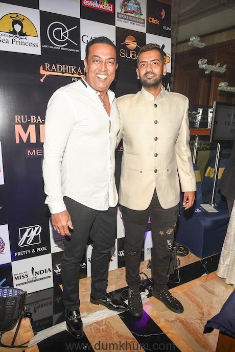 Vindu Dara Singh with Pankaj Kharbanda ( Vice President Ru Ba Ru Mr.India) KPP_2146