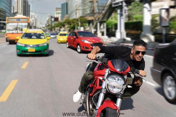 Akshay Kumar shoots bike stunts on the streets of Bangkok for Rohit Shetty's Sooryavanshi