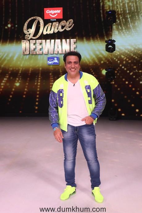 Govinda on the sets of Dance Deewane