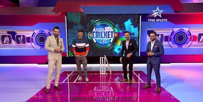 Irfan Pathan, Hrithik Roshan, Jatin Sapru and Parthiv Patel on Philips Hue Cricket Live on Star Sports Network (2)