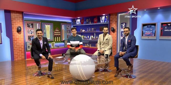Jatin Sapru, Hrithik Roshan, Irfan Pathan and Parthiv Patel on Philips Hue Cricket Live on Star Sports network