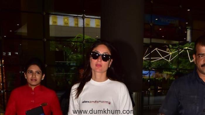 Kareena Kapoor Khan arrives in Mumbai to attend her Dance India Dance shoot (1)