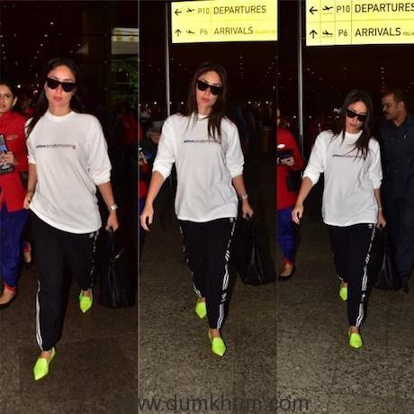 Kareena Kapoor Khan arrives in Mumbai to attend her Dance India Dance shoot (3)