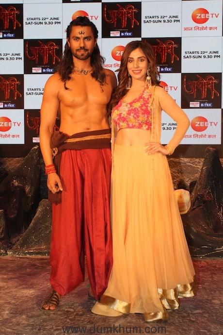 Simaran Kaur and Gaurav Chopraa at the conference of Zee TV's upcoming Fiction drama - AGhori