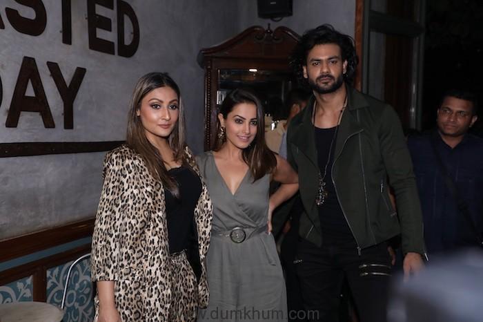 Anita Hassanandani, Urvashi Dholakia and Vishal Aditya Singh