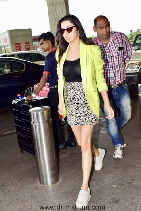 Divya Khosla Kumar spotted at Mumbai airport today