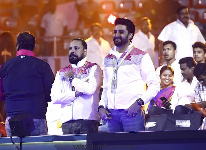 Abhishek Bachchan spotted at the VIVO Pro Kabaddi League Season 7 match