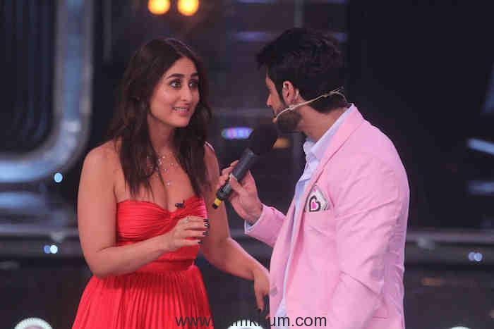Judge Kareena Kapoor Khan with Host Karan Wahi on DID