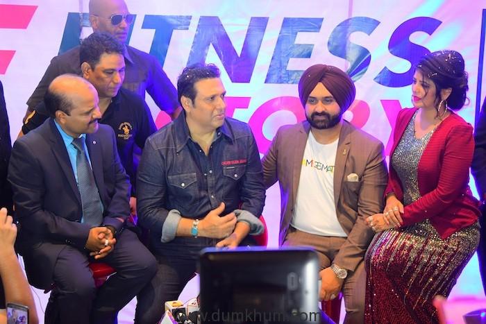 Mr. Deepak Pathak(co-founder_Fitness Factory), Mr. Govinda (Super Star), Mr. Jatinder Singh Monga(Co- Founder_Fitness Factory & ProSlim), Mrs. Meena Luhadiya(Co-Founder_Proslim)