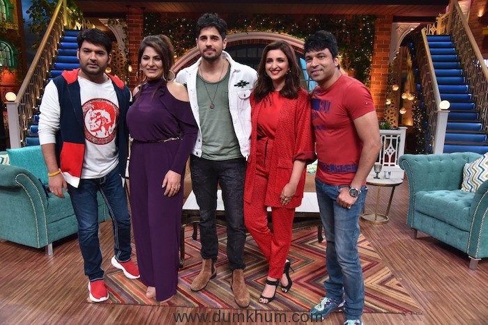 Parineeti & Siddharth Malhotra on Kapil Sharma Show-1