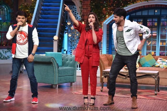 Parineeti & Siddharth Malhotra on Kapil Sharma Show-2