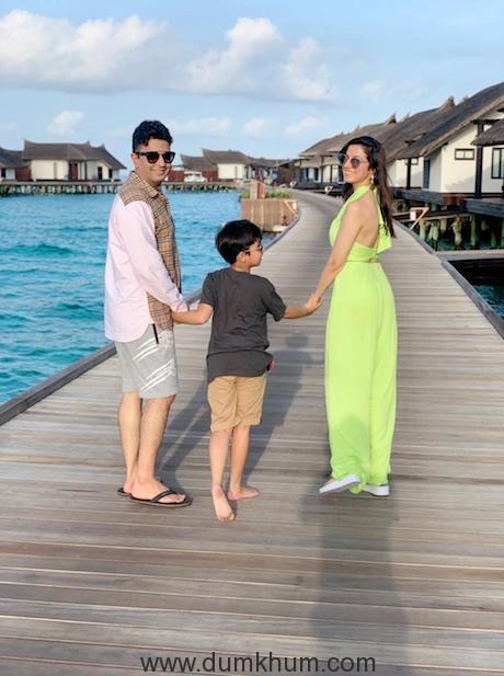 Producer Bhushan Kumar with Wife Divya Khosla Kumar and son enjoys family vacay in Maldives-1