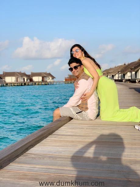 Producer Bhushan Kumar with Wife Divya Khosla Kumar and son enjoys family vacay in Maldives-2
