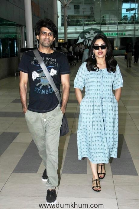 Prouder Juno Chopra with Bhumi Pednekar at the airport as they return from Lucknow