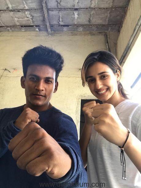 Rakesh with Disha.