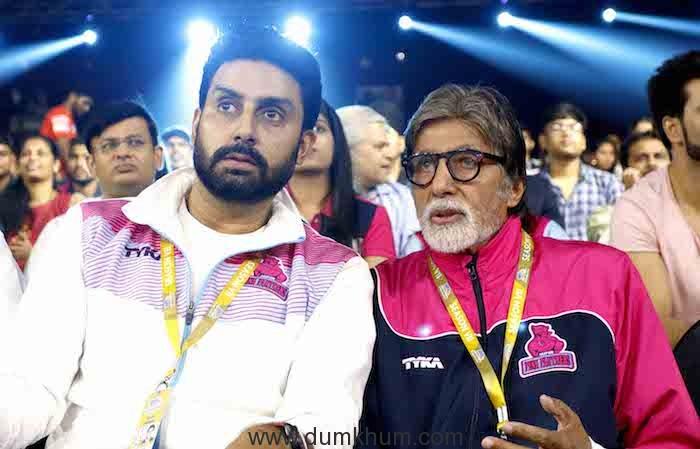 Shahenshah Amitabh Bachchan joined Abhishek Bachchan VIVO Pro Kabaddi League Season 7