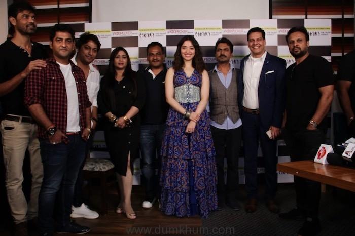 Tamannaah Bhatia, Nawazuddin, director Shamas Siddiqui, producers Rajesh Bhatia and Kiren Bhatia.