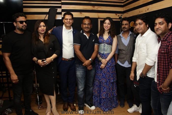 Tamannaah Bhatia, Nawazuddin, director Shamas Siddiqui, producers Rajesh Bhatia and Kiren Bhatia