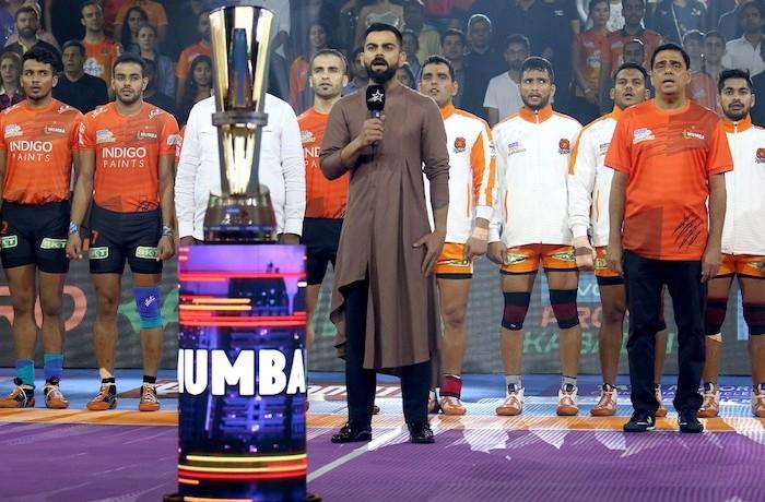 Virat Kohli, Team India Captain (Cricket) opens the Mumbai leg of VIVO PRO KABADDI Season 7.