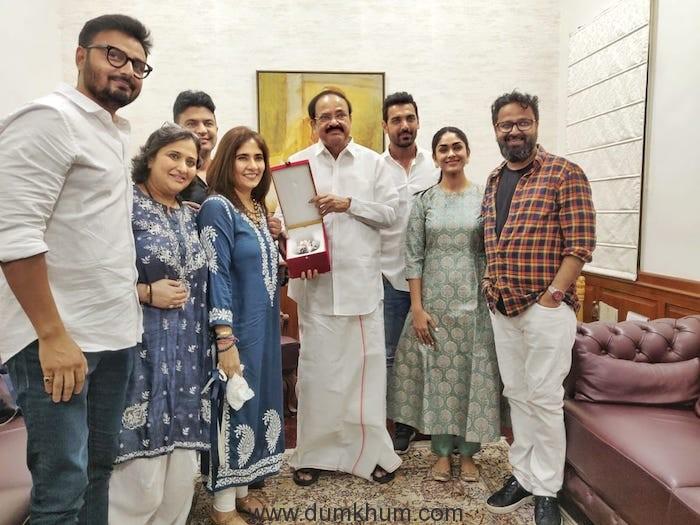 Bhushan Kumar, Nikkhil Advani, John Abraham and team Batla House gets best wishes from VP of India