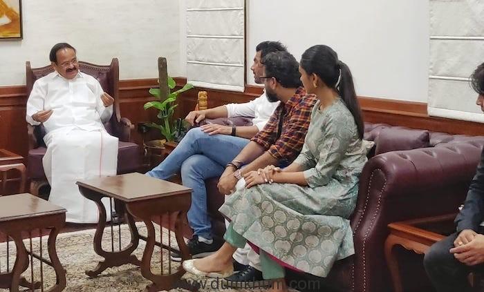 Bhushan Kumar, Nikkhil Advani, John Abraham gets best wishes from VP Venkaiya Naidu