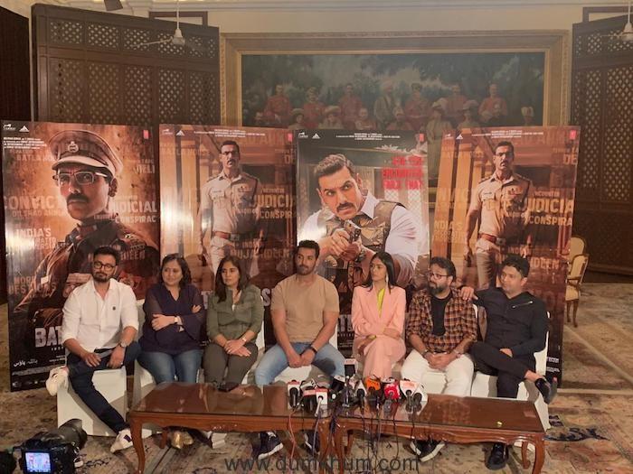 John Abraham, Mrunal Thakur, Nikkhil Advani and team starts the promotion of the film Batla House from Delhi-
