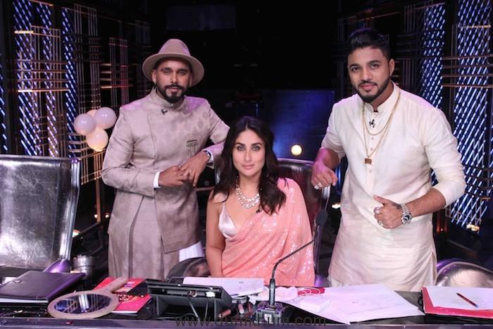Judges Bosco Martis, Kareena Kapoor Khan and Raftaar on the sets of DID (3)